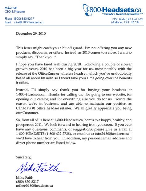 lettre de prospection client