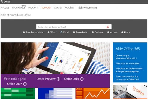 microsoft excel aide en ligne